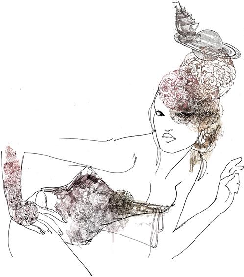 sara singh print-corset-right