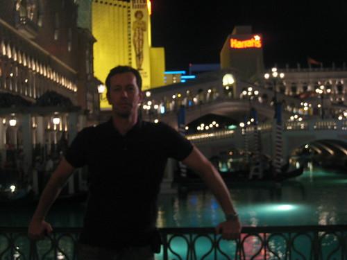 André em Veneza em Vegas