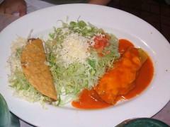 Combo tostada, taco, enchilada
