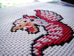 Ironed Starywvern (benjibot) Tags: crossstitch crafts videogames nes dragonwarrior wyvern