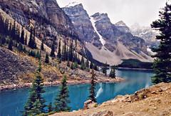 Lake Morraine, Canada (EJC01) Tags: trees lake canada mountains landscape rockies alberta rockymountains banffnationalpark morraine lakemorraine
