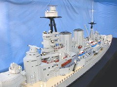 finished 6 (Lego Monster) Tags: war ship lego navy ww2 hood battleship combat naval cruiser warship hms worldwartwo battlecruiser histrory
