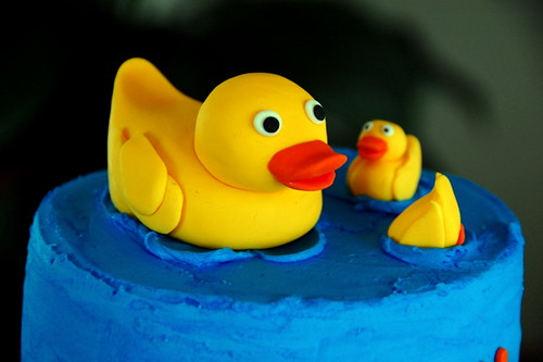 Duck Cake top tier