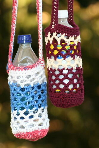 Free Crochet Pattern Water Bottle Holder : Water Bottle Carrier Free Crochet Pattern from the Holders ...