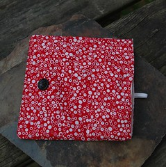 red pouch unfolded (malamoose beadery) Tags: red geometric bag fun handmade wallet oneofakind ooak circles bubbles storage organizer cotton purse pouch button clutch etsy brightred accessory cottonclutch malamoosebeadery