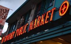 Sanitary Public Market (James Callan) Tags: seattle public sign downtown neon market sanitary pikeplacemarket sanitarypublicmarket october2008 abcseattlesisfor