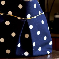 Corduroy Polka Dot Purse #4