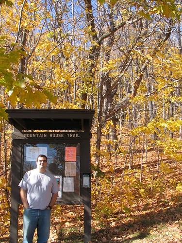 Ian at Mt. Wachusett Trail Head
