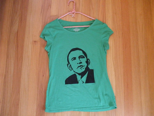 green Barack Obama shirt!
