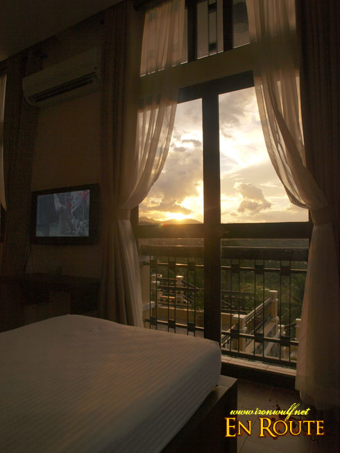 The manor view room sunset