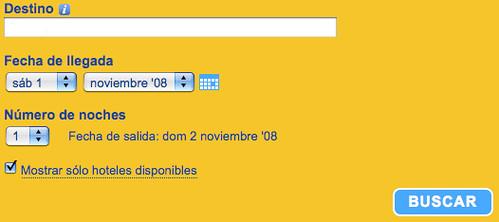 formulario de Booking del 2008