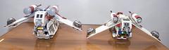 Rear- 7676 vs 7163 (starstreak007) Tags: lego vs republican gunship 7163 7676 compairing