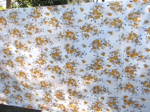 Orange flower sheet