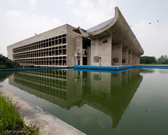 Le Corbusier's Assembly Building in Chandigarh (ScottLarsen) Tags: travel urban india reflection water pool architecture concrete gris one hall body cement best architect planning sector punjab lecorbusier administration legislature corbusier chandigarh modernist select assembly ciam legislative haryana chandi citybeautiful jeanneret unionterritory charlesdouard charlesdouard