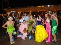 Mickey's Trick or Treat Party: Disney Group (CrimsonGypsy1313) Tags: halloween princess cosplay beck disneyland tinkerbell peterpan disney giselle snowwhite tigerlily californiaadventure captainhook sunshineplaza wendydarling johndarling michaeldarling mickeystrickortreatparty disneygroup