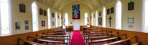 Maori Catholic Church at the convent in Jerusalem, Whanganui River, New Zealand