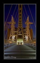 Salford Quays (setsuyostar) Tags: dark nightscape bridges salfordquays handheld freshminds kenhawley