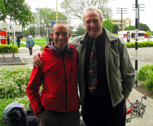 With Uncle Lindsay in Palmerston North, New Zealand