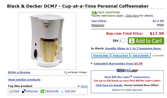 Black & Decker Coffee Mug & Can Opener  Deals
