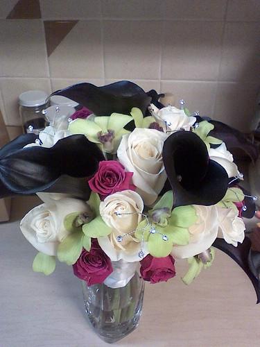 My Bridal Bouquet. The Calla Lillies will be no where near as dark!!