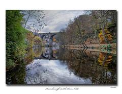 Knaresborough & The River Nidd (SteveMG) Tags: longexposure bridge autumn reflection river landscape yorkshire smg picturesque knaresborough 10mm