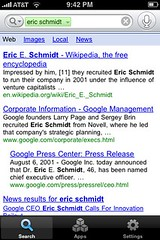 "Google voice search for ""eric schmidt"""