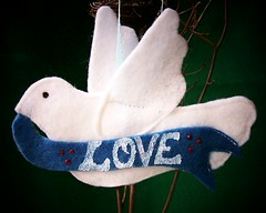 blue love dove felt ornament (Beyond.the.Box) Tags: christmas peace symbol dove felt ornaments peacedove whitedove thinkoutsidethebox lovebanner feltornaments thinkoutsidethebox2008 feltdoveornament