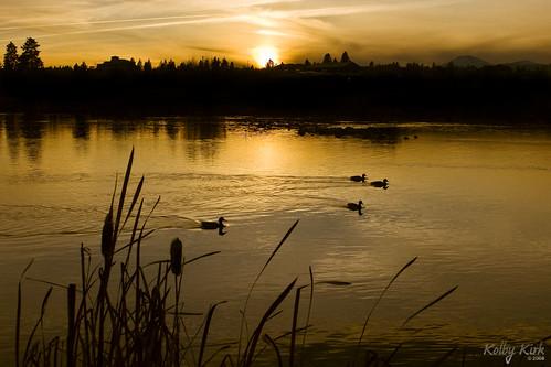 Sunset on the Deschutes