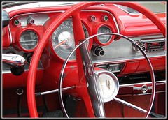 1957 Chevy Bel-Air Dash (Dusty_73) Tags: auto classic chevrolet belair car automobile fifties interior style retro chevy dash fresno 1957 57