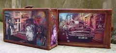 "C215 - ""L'invitation au voyage"" (C215) Tags: streetart art french graffiti artwork stencil auction luggage christian pochoir masacara artcurial szablon c215 schablon gumy piantillas"