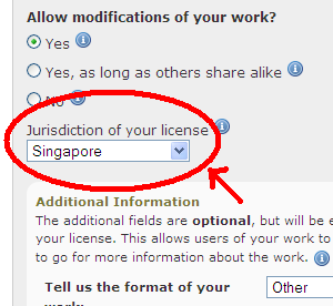 "Creative Commons Singapore licences - Now ""LIVE""!"