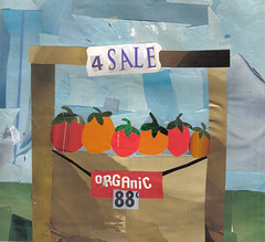 Organic Tomato Stand (Cut-And-Paste) Tags: collage illustration tomatoes collageart cutandpaste organictomatoes collageillustration