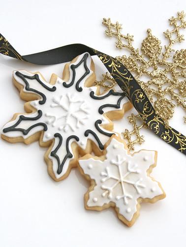White and Black Snowflakes