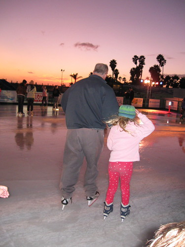 Ice Skating at the Beach