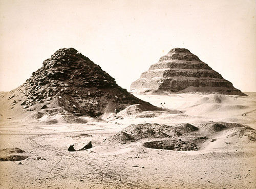 'The Pyramids of Sakkarah from the North East'.