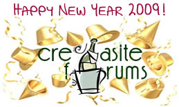 Cre8asite 2009 New Years