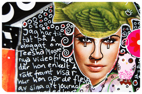 Green Bird hat girl (Copyright Hanna Andersson)