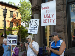 Protest against war funding at the office of Representative McCollum - by Fibonacci Blue