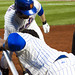Ike Davis low fives Jose Reyes