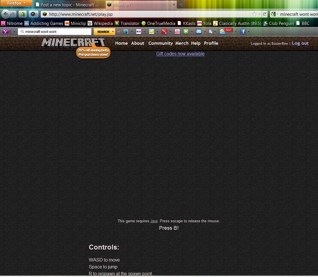 MineCraft Classic halp?? - Legacy Support - Archive - Minecraft