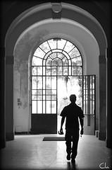 entered or  leaving ? [EXPLORE May 10, 2011 #111] (dClaudio [homofugit]) Tags: light portrait people bw man guy walking leaving nikon interior entering silouhette padua entered d90 esplore mygearandme mygearandmepremium