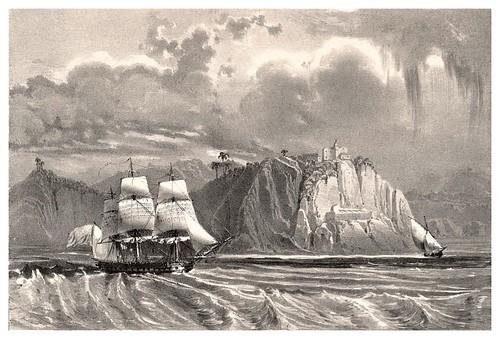 010-Isla del Buen Viaje en la bahia de Rio de Janeiro-Journal de la navigation autour du globe… 1837-Barón de Bouganville-fuente BOTANICUS