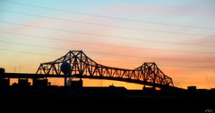 The Goethals Bridge (VCH ) Tags: morning sky ny newyork sunrise newjersey nj picnik birdge portauthority goethalsbridge