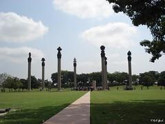 Rajiv Gandhi Park in India (Shaima82_4) Tags: park trees sky india tree nature grave ship gandhi nippon 20 maru rajiv swy swy20