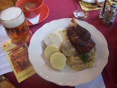 Honeyed duck with beer