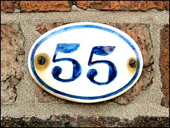 """""""55"""" (Lincolnian (Brian) - BUSY, in and out) Tags: england house lincolnshire number lincoln abc 55"""