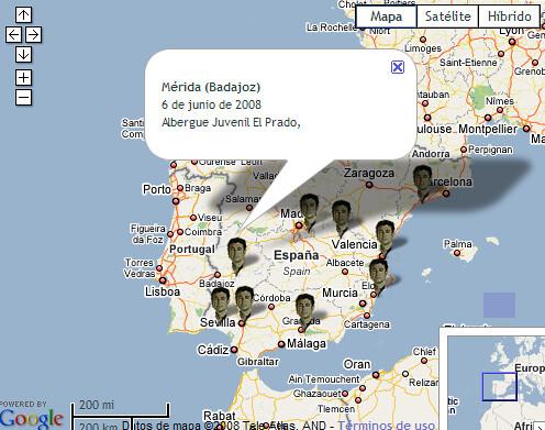 mapa de la gira