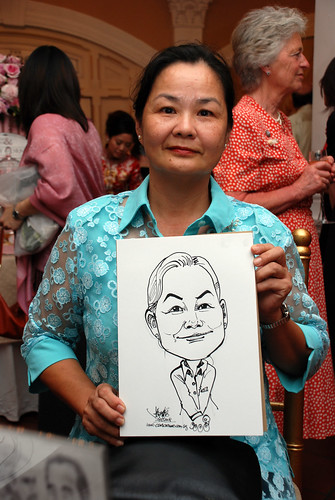 Caricature live sketching for wedding dinner3