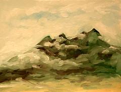 April Snowstorm on Taos Mountain (Tara Wheeler) Tags: oilpainting taosmountain pleinair allaprima paintingaday dailypainting