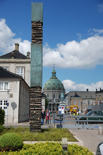 Frederikskirken/Marmorkirken seen through Amalienborg Palace from Amaliehaven